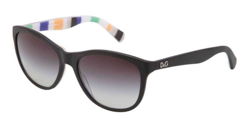 D&G Playful Chique: Black / Stripes - Grey Gradient