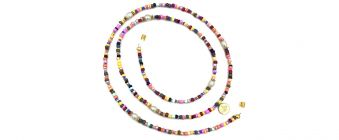 Boho Beach Sunny Necklace - Rainbow Sunny Necklace Pearls